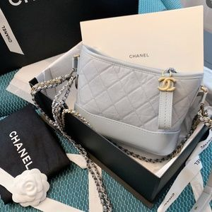 NEW CHANEL Aged Calfskin Small Gabrielle Hobo Bag